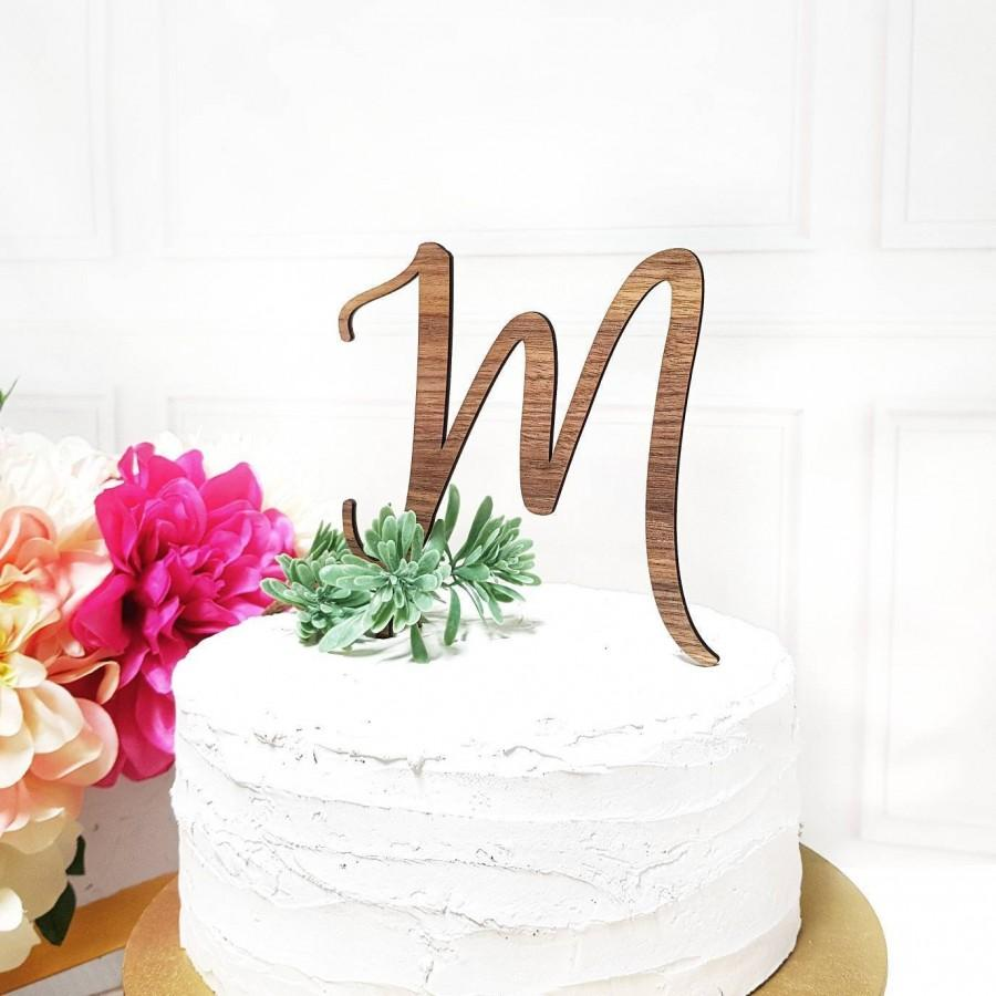 Hochzeit - Initial Cake Topper, Letter Cake Topper, Wedding Cake Topper, Engagement Cake Topper, Bridal Shower Cake Topper, Acrylic Topper