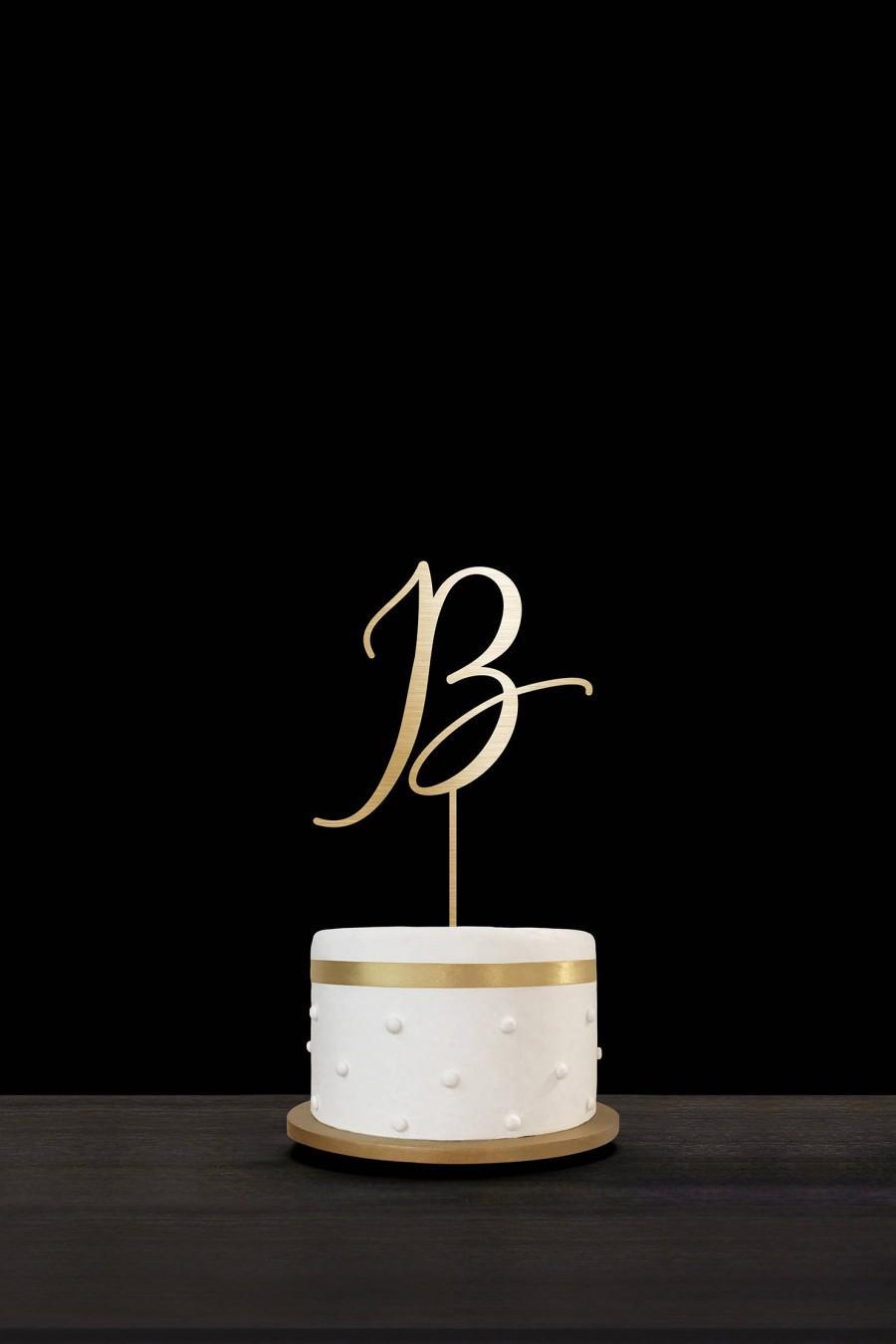 Hochzeit - Customized Wedding Cake Topper Personalized Cake Topper for Wedding, Custom Personalized Wedding Cake Topper, Monogram Cake Topper #26