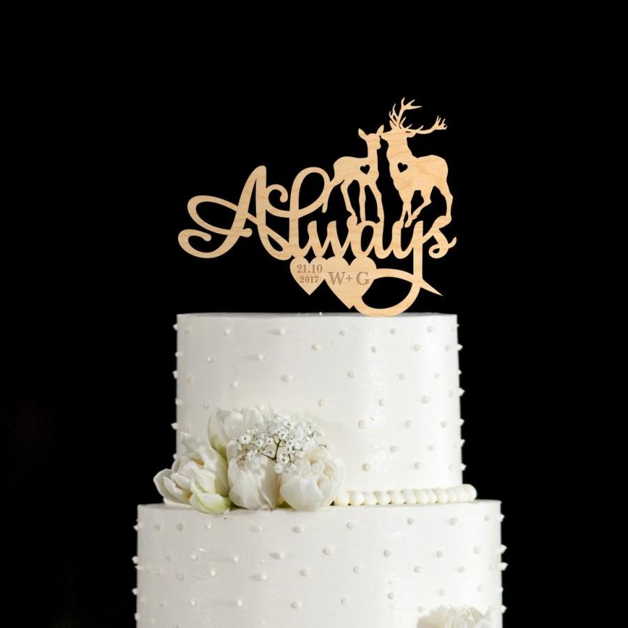 Hochzeit - Always cake topper,deer cake topper,harry potter cake topper,harry potter wedding cake topper,harry potter cake topper wedding,741