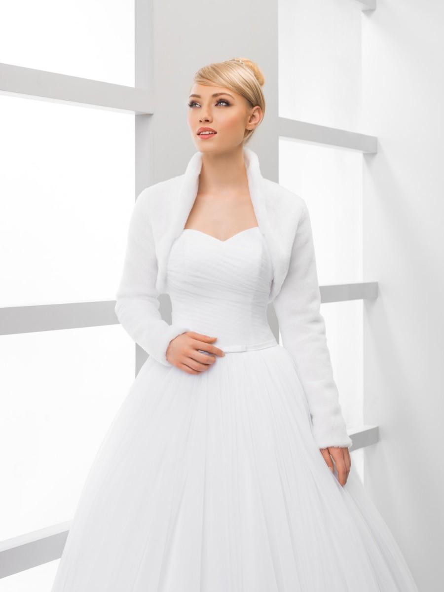 Wedding - Warm Bridal Cover up Winter Bridal Jacket White Ivory Black