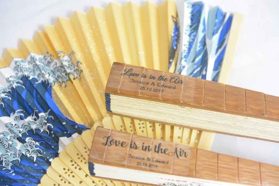 Wedding - Wedding Fan Label, Hand Fan Label,Program Fan label,Personalized Fan Sticker,Custom Label Fan, Clear Wedding Label, Personalized Clear Label