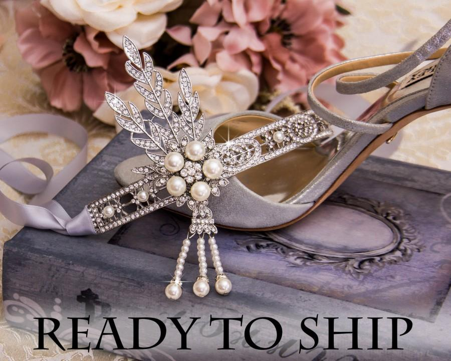 زفاف - Retro 1920s Headpiece Wedding Bridal Headband Great Gatsby Art Deco Hair style