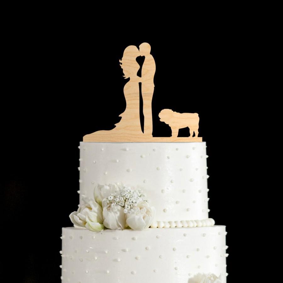 Свадьба - English bulldog,english bulldog cake topper,bulldog,wedding cake topper with dog,dog wedding cake topper,dog cake topper,cake topper,671
