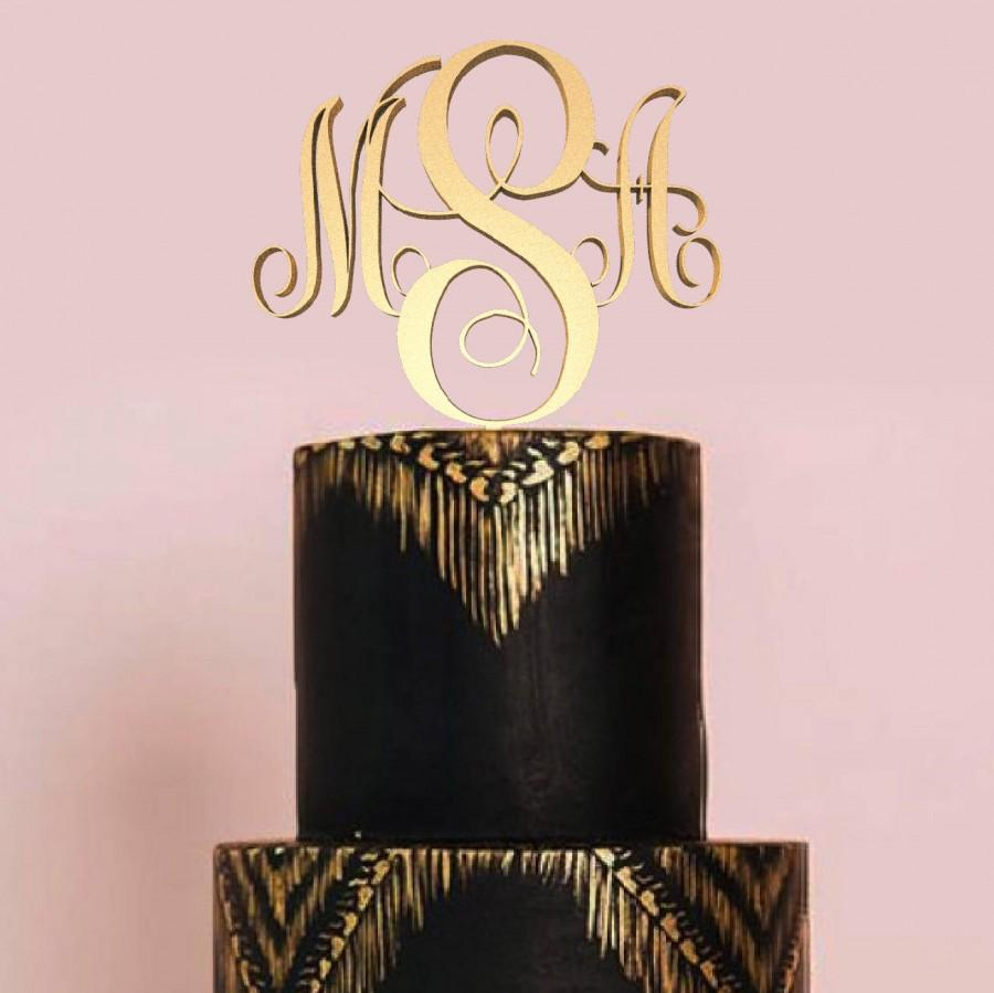 Свадьба - Cake Topper for Wedding Monogram and Initial for Wedding Cake Topper