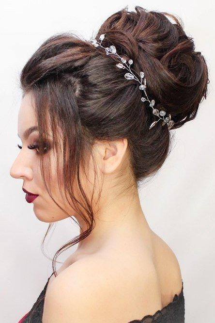 Wedding - Long hair vine Bridal Headpiece Boho wedding halo Wedding crown headpiece Bridal Hair Accessory Wedding Headband Boho Bridal Headpiece