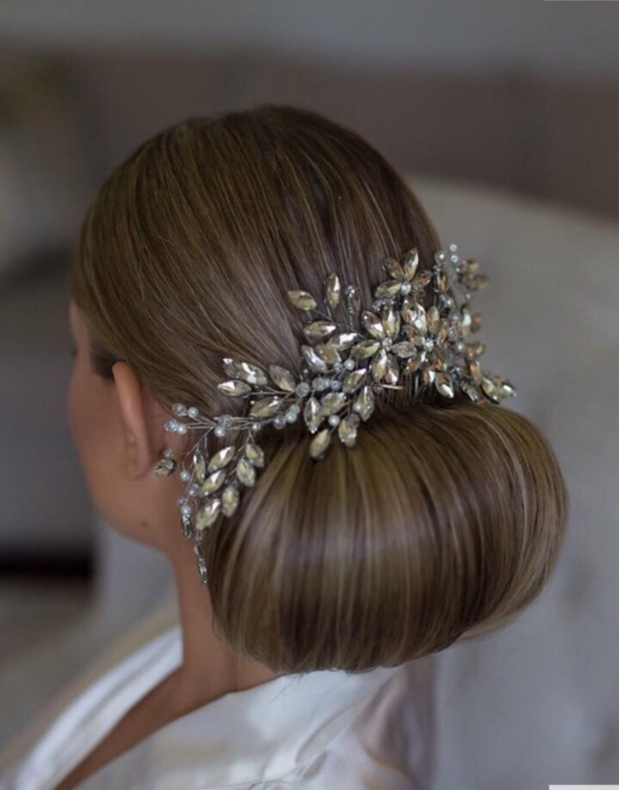 Wedding - Crystal Hair Comb Bridal Hair Comb Wedding Hair Comb Bridal Comb Bridal Headpiece Crystal Headpiece Bridal Hair piece Wedding Hair piece
