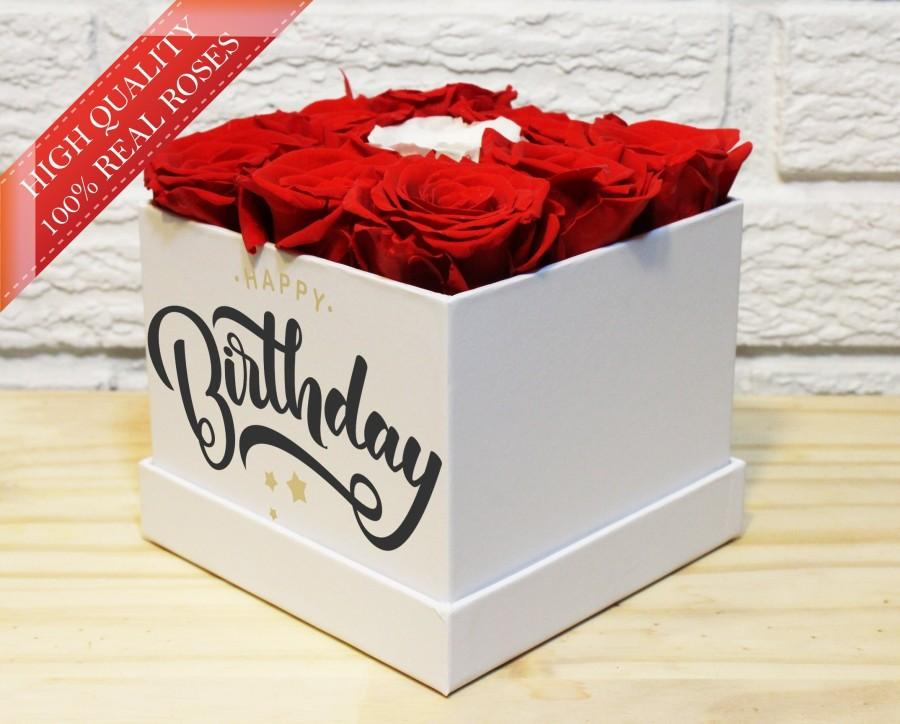Happy Birthday Gift Preserved Red Roses Valentines Day For Her Wife That Last A Yearinfinity Rosebirthday
