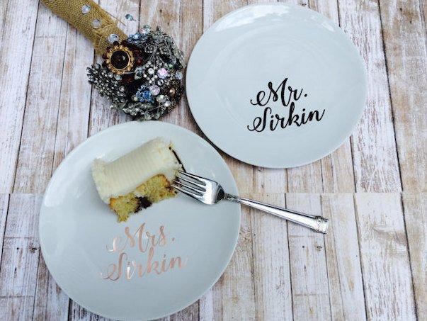 Wedding - Personalized Wedding Cake Plate