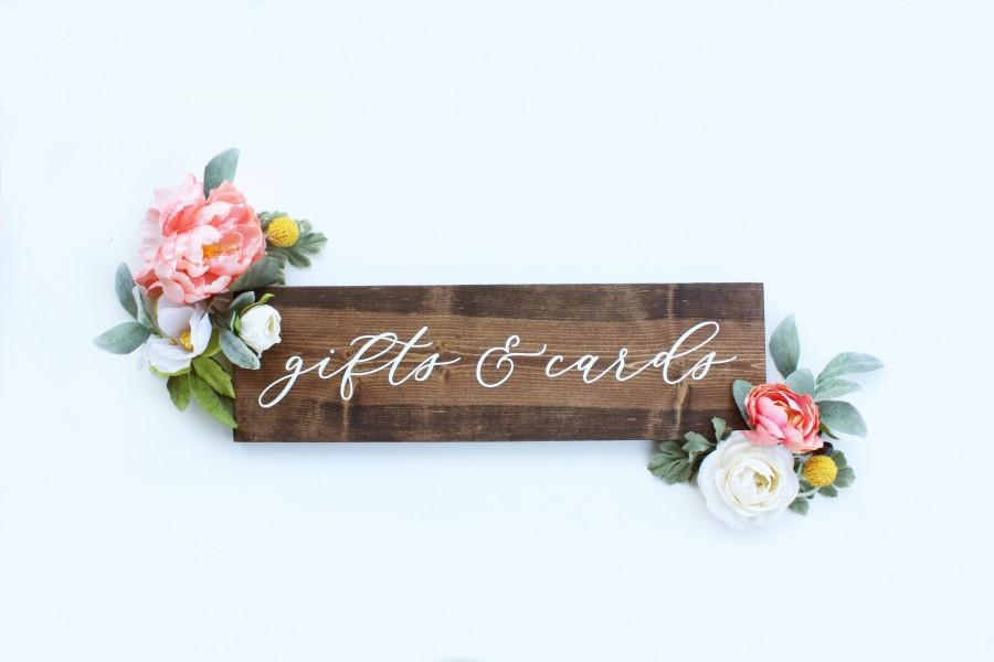Mariage - Gifts & Cards sign, Rustic Wedding Sign, Wedding Table Decor, Wedding Decor, Centerpiece Sign, Wood Wedding sign, Timber Farms Co.
