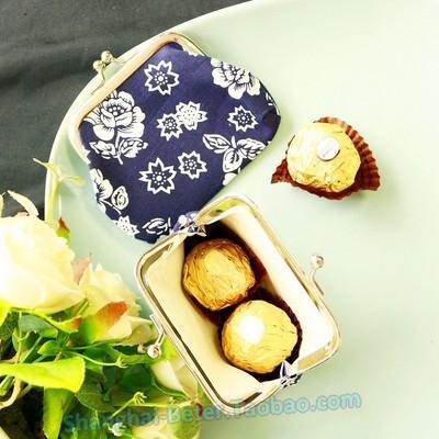 Wedding - Beter Gifts®結婚錦緞迷你布藝新娘零錢包中式INS流蘇喜糖盒袋子婚禮用品BETER-HH066