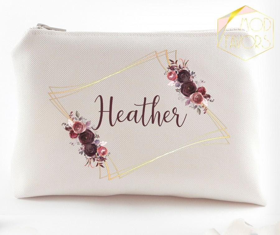 Hochzeit - Bridesmaid proposal Will you be my bridesmaid Asking bridesmaid gift idea Bridesmaid makeup bag Bridesmaid make up bags Ask bridesmaids