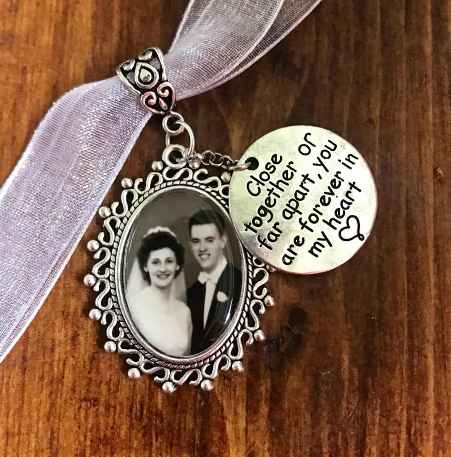 Mariage - Memorial Wedding Bouquet Photo charm - Carry the memory of your loved ones Locket - Great gift for Bride DIY or Custom Made
