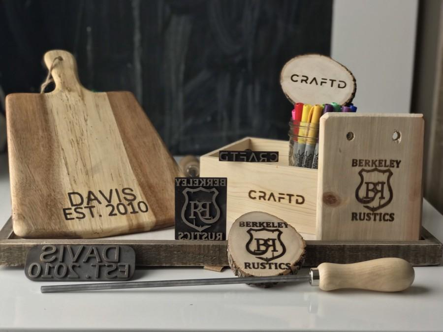 Mariage - Create a custom branding iron - use your logo - wood- steak - leather etc - stamp- save the date , wedding, 3d printed in stainless steel