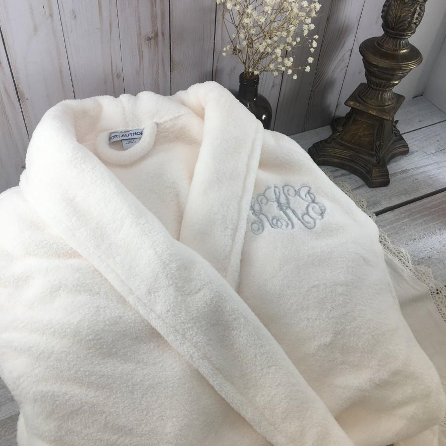 زفاف - Monogrammed Plush Robe, His and Her Gifts, Personalized Robes