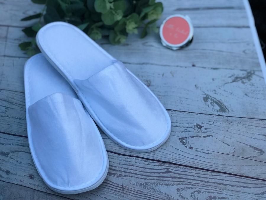 Mariage - Botanical eucalyptus  Personalised Bridal slippers,  geometric slippers, personalised slippers, wedding slippers