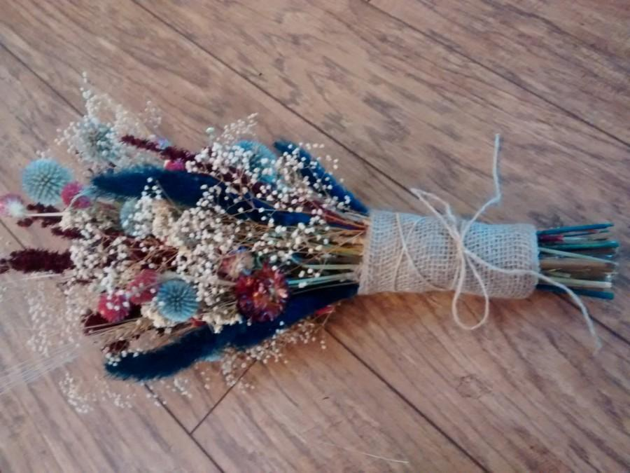 Свадьба - Dried Floral Wedding Bouquets - Perfect For Rustic Country Weddings - Forever Grateful Bouquet