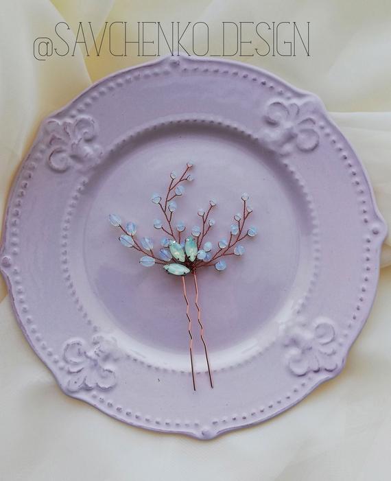 Wedding - Moonstone hair pin
