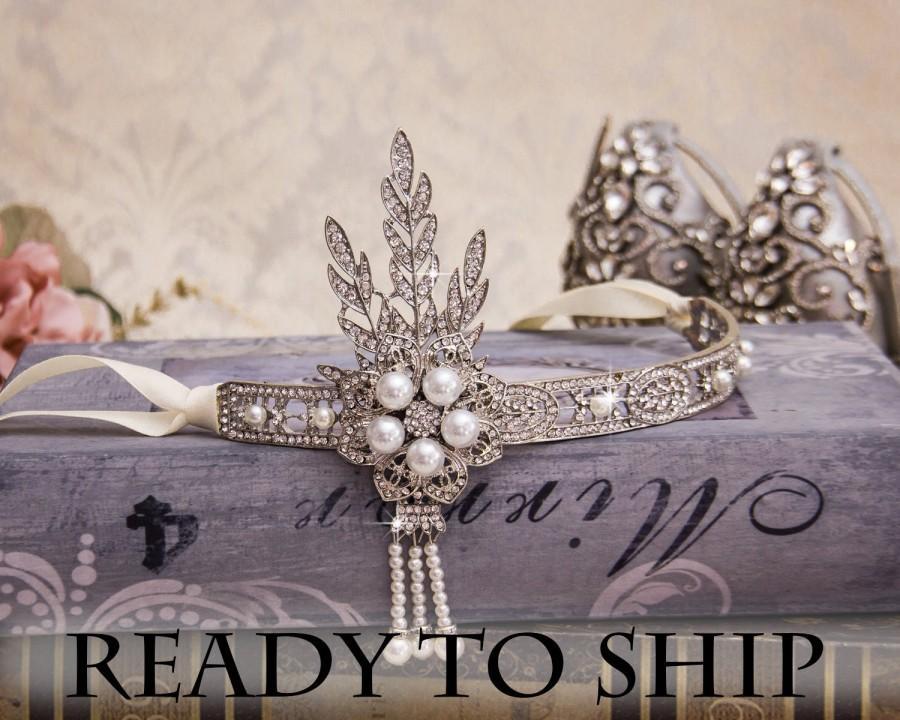 Mariage - Great Gatsby Headband Flapper Headband Rhinestone Headband 1920s Headband Downton Abbey Headpiece