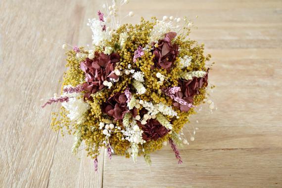 Wedding - Wild Bridal Bouquet, Bohemian Wedding Bouquet, Dried Natural Flower Wedding Bouquet, Colorful Wild Bouquet, Floral arrangement.