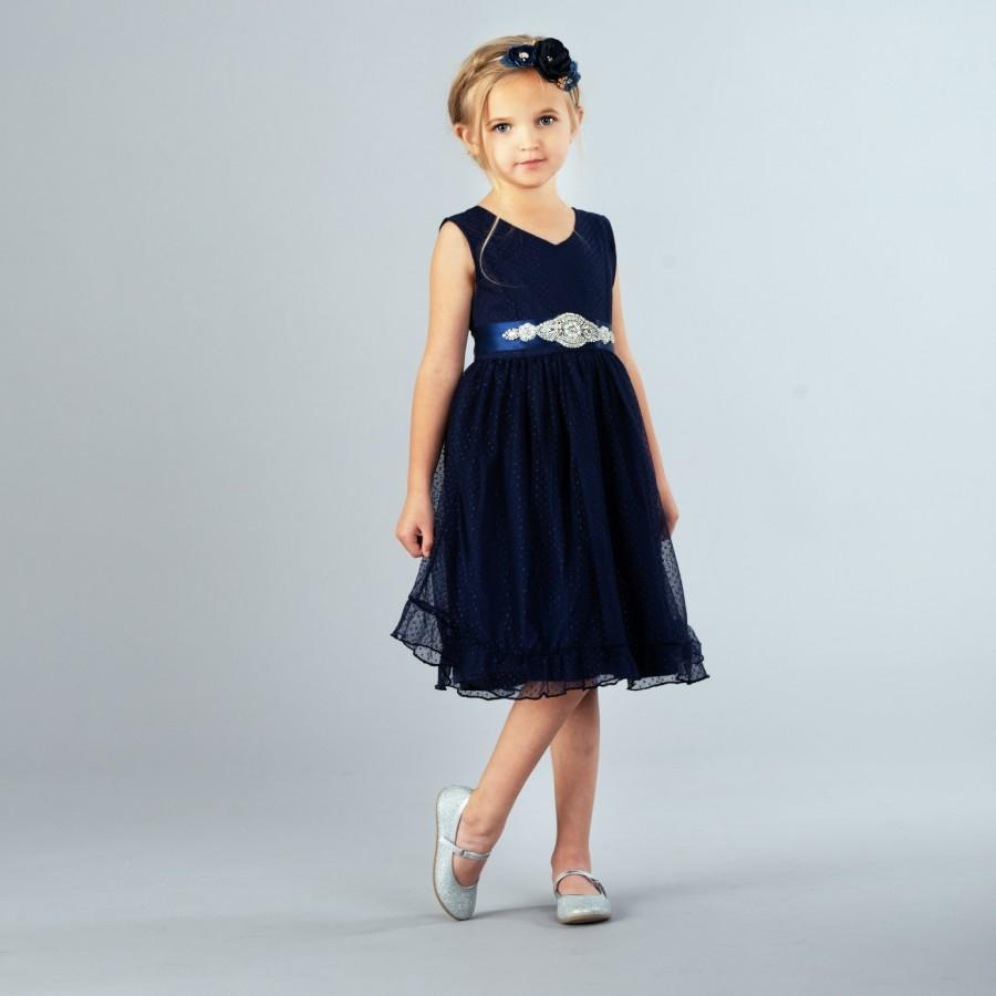 fa292523a Navy blue flower girl dress, flower girl dresses, Rustic flower girl dress,  lace flower girl dress, country lace dress, toddler dress baby