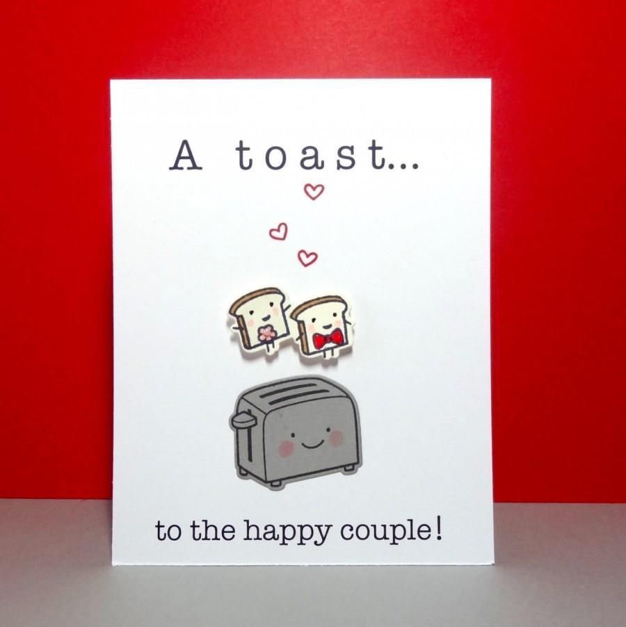 Wedding - Wedding Card, Engagement Card, Funny Wedding Card, Congratulations, Bridal shower, Wedding Shower, Wedding Toast, Food Pun, Handmade Card