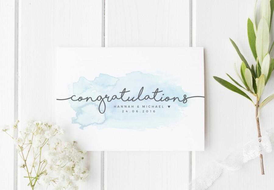 Personalized Wedding Card Newly Married Couple Greeting Card