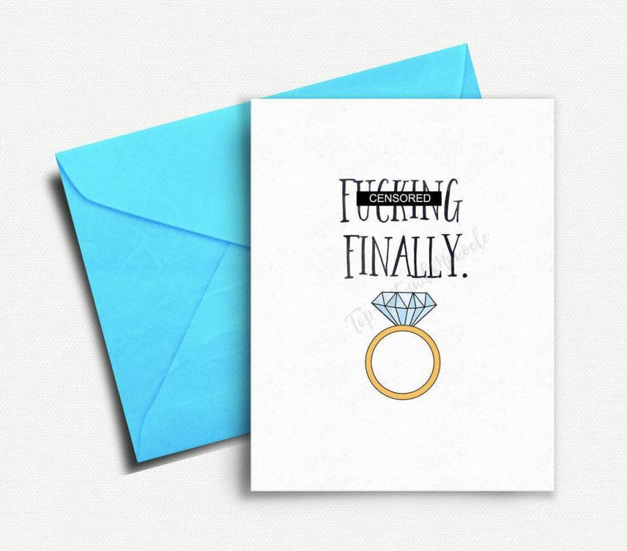 زفاف - Funny Wedding Card, Wedding Shower Card, Funny Engagement Card, Finally, Engagement Congratulations, Wedding Congratulations, Card for Groom