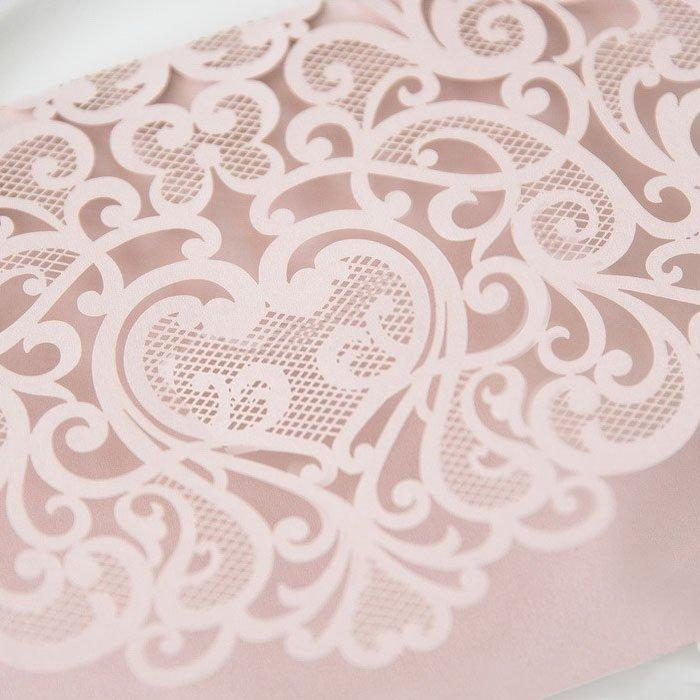Mariage - Laser Cut Pocket - Blush Wedding Invitation - Pink Lasercut Pocket - DIY Wedding Invitation Supplies