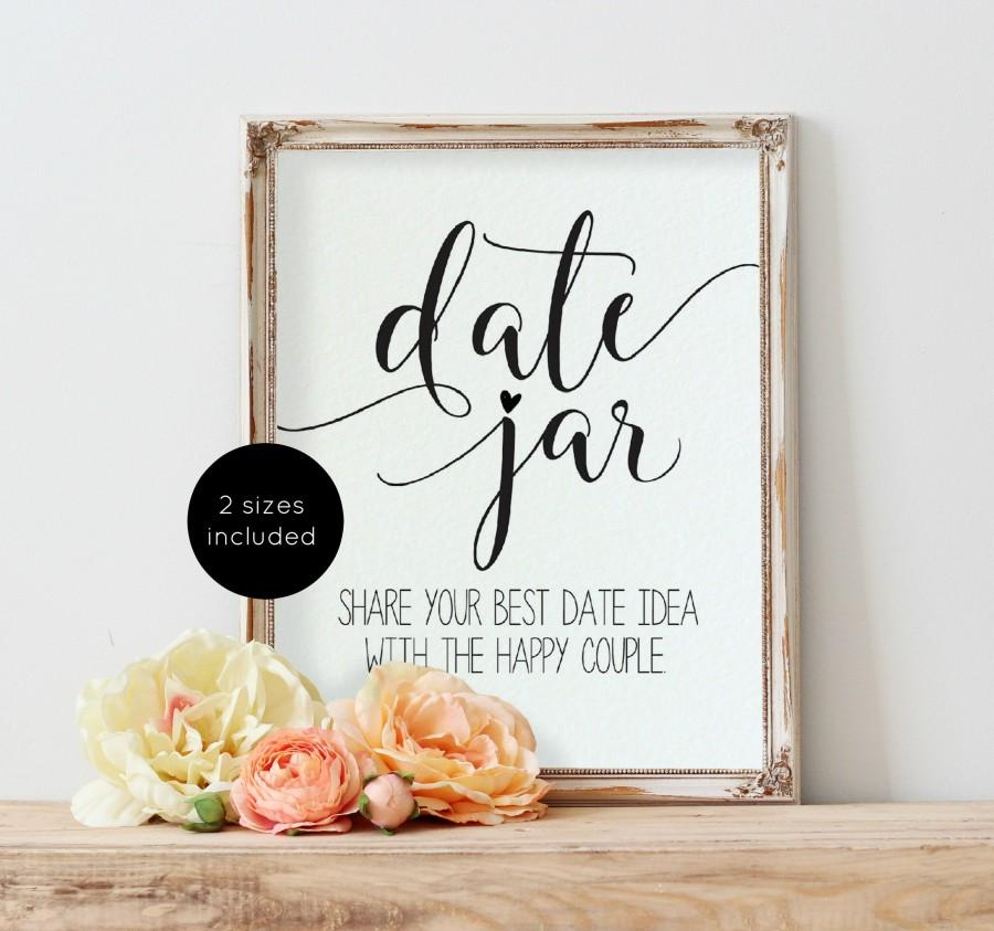 زفاف - Date Night Ideas Sign, Wedding Date Night Advice, Date Night Card, Wedding Sign Printable, Bridal Shower Game, Instant Download, WLP-SOU 566