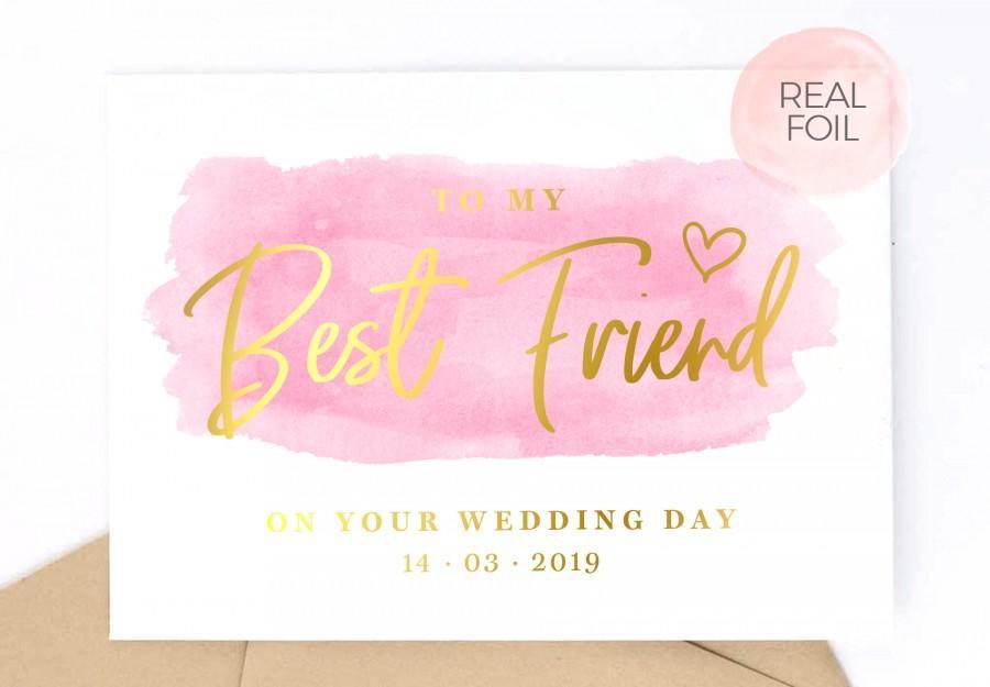 Hochzeit - To My Best Friend on Your Wedding Day Card