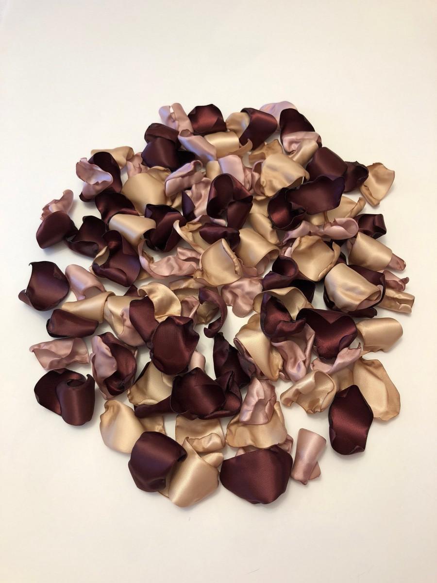 Mariage - Burgundy Rose Petals/Dusty Pink Petals/Maroon Petals/Rose Gold Wedding/Champagne Rose Petals/Burgundy Petals/Rose Petals/Rose Gold Petals