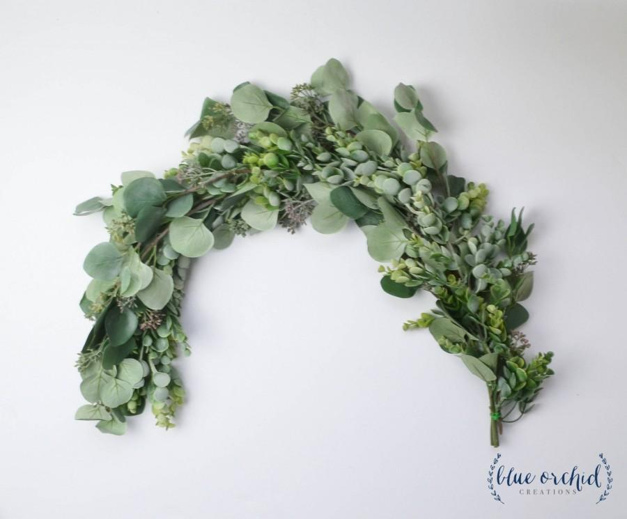 Mariage - Wedding Garland, Wedding Flowers, Greenery Garland, Wedding Backdrop, Greenery Backdrop, Photo Booth Backdrop, Boho Wedding, Eucalyptus