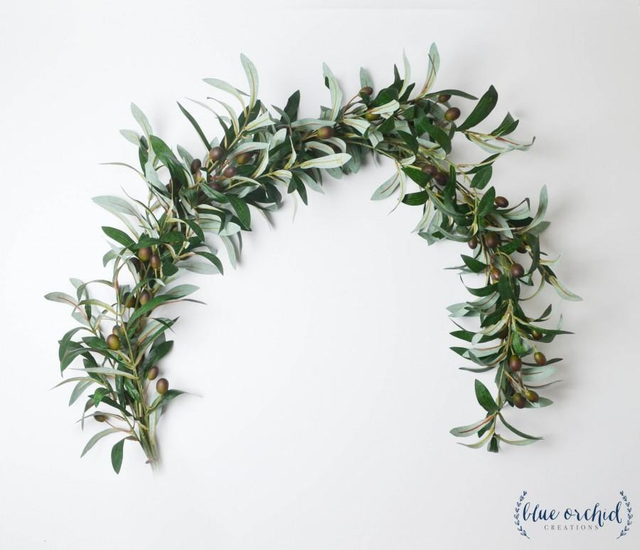 Свадьба - Wedding Garland, Wedding Backdrop, Olive Branch, Greenery Garland, Greenery Backdrop, Photo Booth Backdrop, Boho Wedding Garland