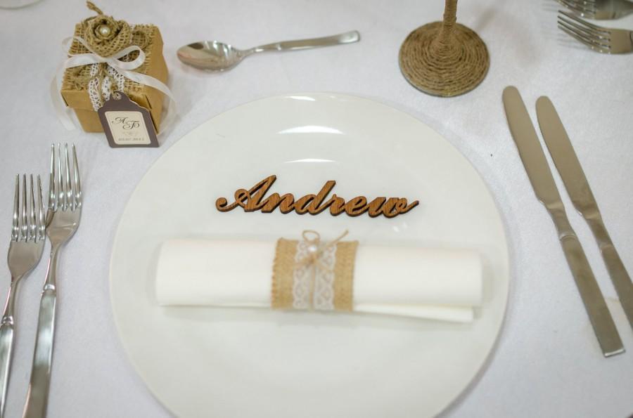 زفاف - Wooden Laser Cut Names, place cards, Laser cut namess, personalised laser cut names, Wedding table place names, Guest names, wooden letters