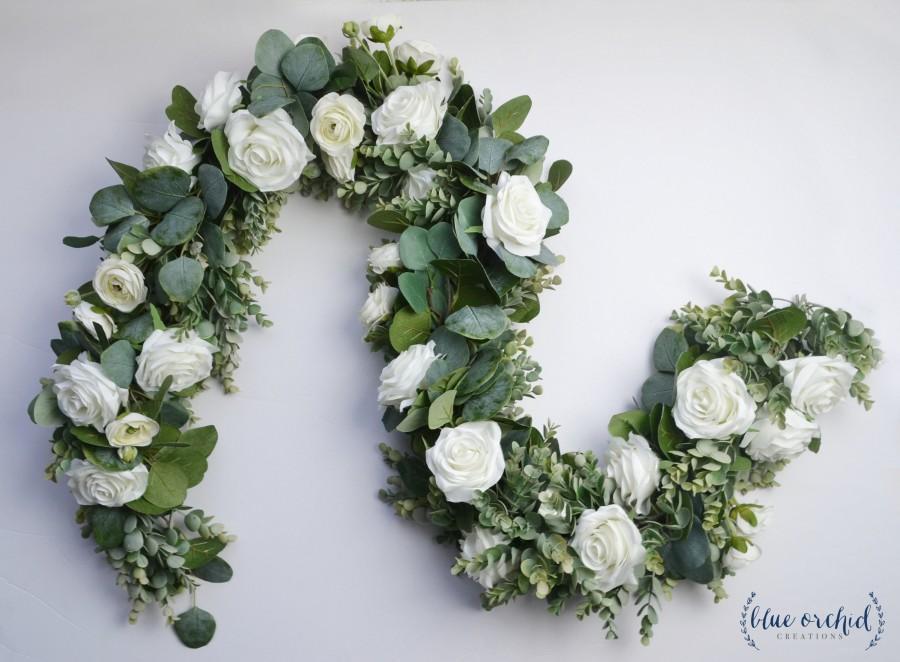 Eucalyptus Garland, Wedding Garland, Wedding Backdrop, Silk