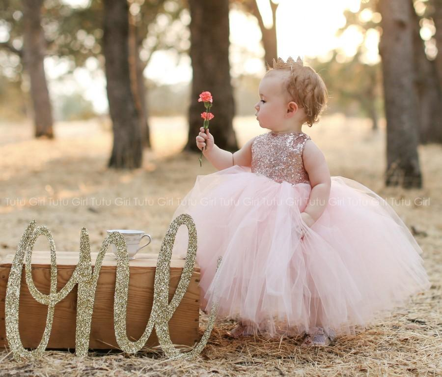 0714755f3f5 Blush Pink Flower Girl Dress