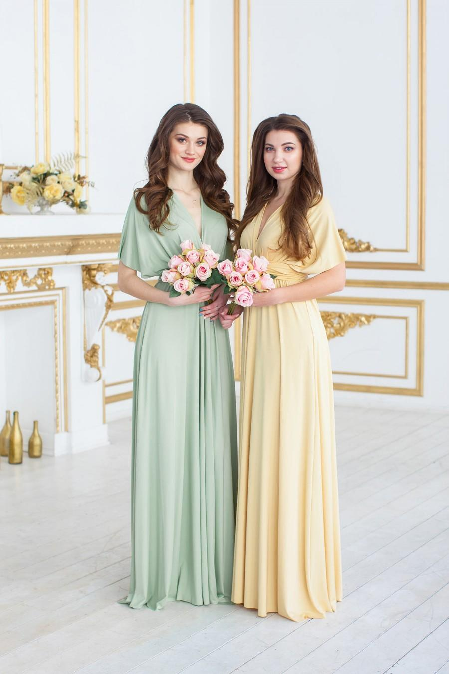 Mariage - Bridesmaid Dress Infinity Dusty Dress Convertible Dress Wrap Dress  Prom Dress Multiway Dress Champagne Party Dress Ship from New York