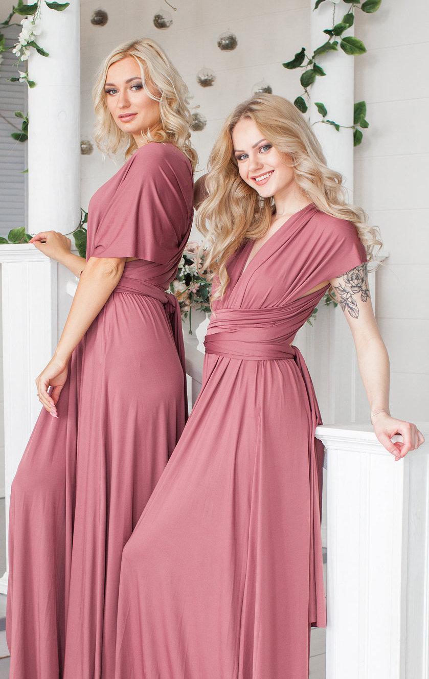 Hochzeit - Infinity Dress, Wedding Party Convertible Bridesmaid Dress, Gold Prom dress, Evening Dress, Multiway Dress, Wrap Dress, Formal Dress