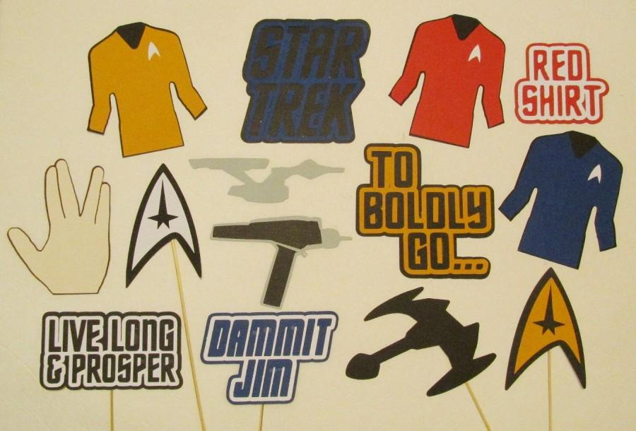 Mariage - Inspired by Star Trek Photo Booth Props Star Trek Party Decorations Star Trek Wedding Star Trek Birthday Photo Booth Props Wedding
