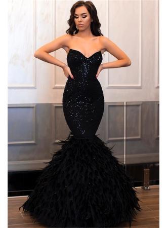 Wedding - Elegant Sleeveless Sweetheart Sequins Prom Dresses