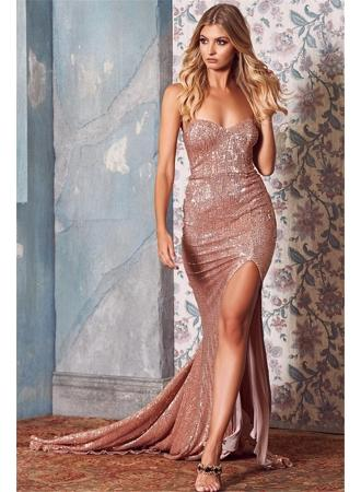 Wedding - Sexy Sequins Sweetheart Evening Dresses Long