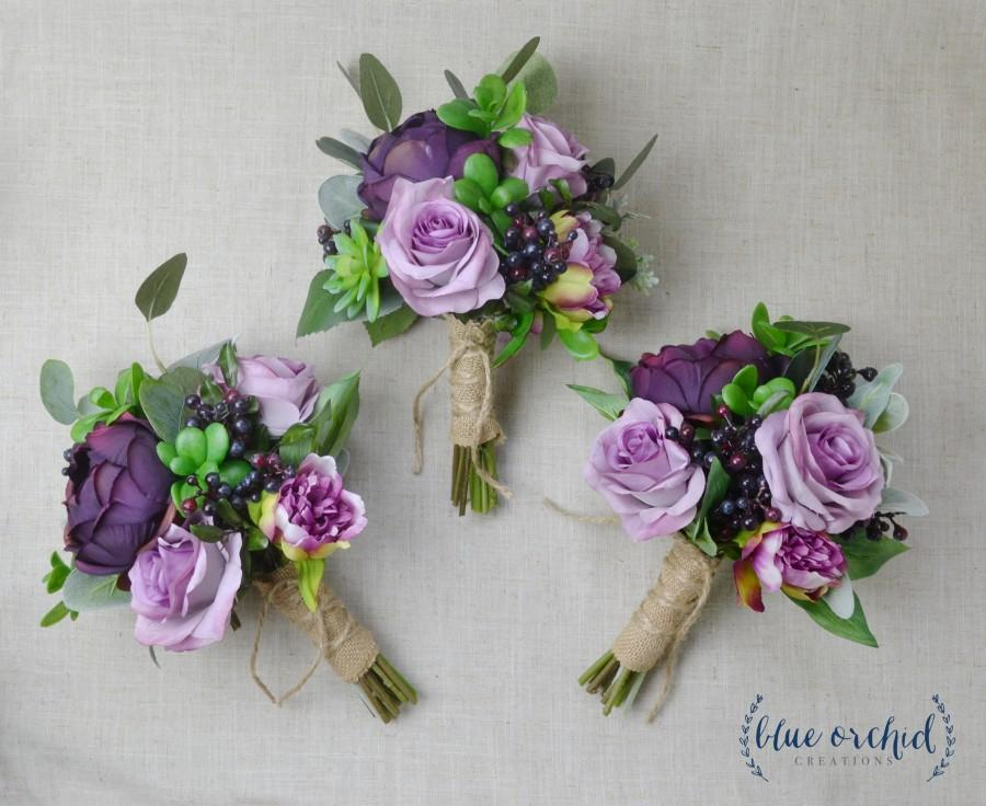 زفاف - Bridesmaid Bouquet, Wedding Flowers, Silk Bridesmaid Bouquet, Bridesmaid Bouquets, Artificial Bouquet, Wedding Bouquet, Wedding Flower Set