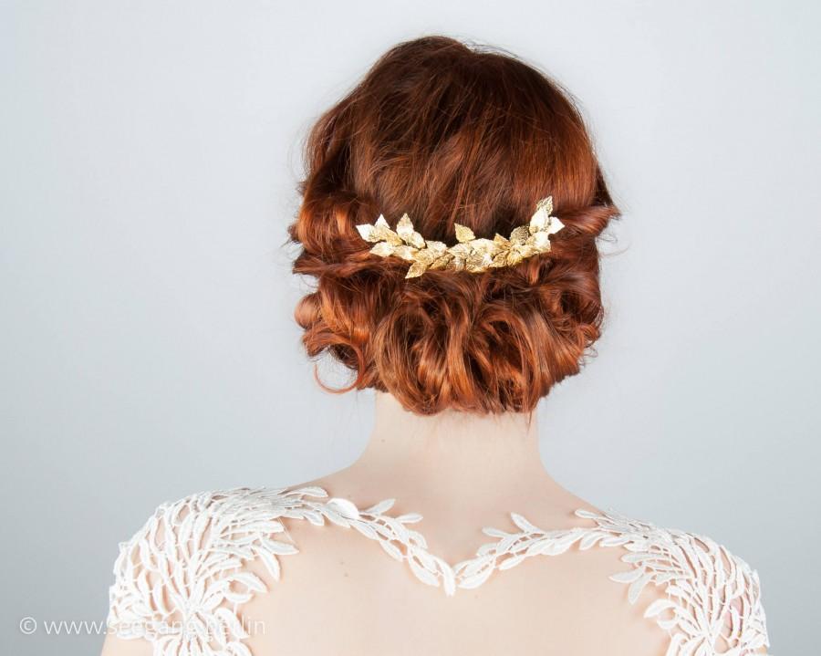 Greek Goddess Wedding Hair Accessories 2018 Vintage Bride Bridal Hair Comb Gold Prom Hair Bridal Haircomb Gold Woodland Wedding