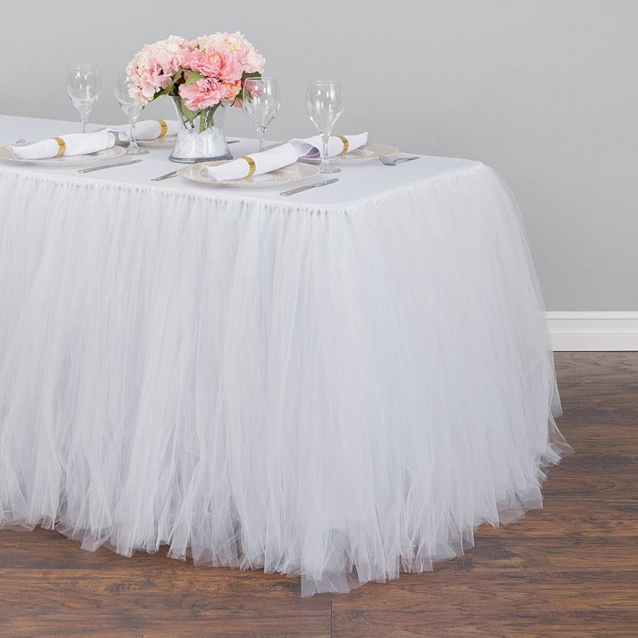 Hochzeit - 14 ft. Tulle Tutu Table Skirt