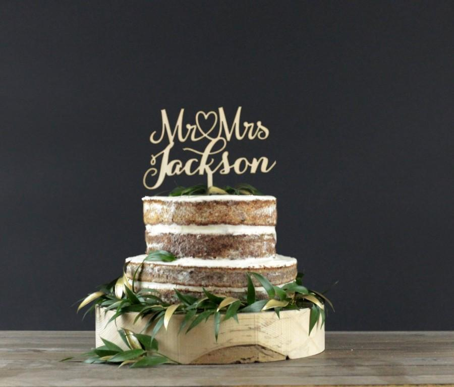 Свадьба - Personalized Wedding Cake Topper - Cake Decor - Wood Cake Topper - Wedding Decoration