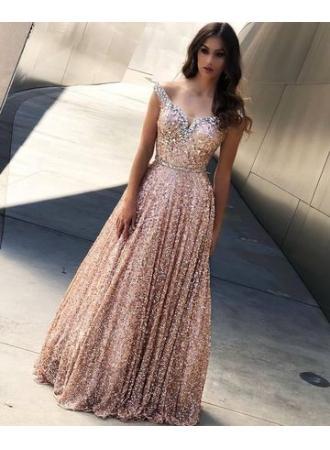 0b48d9d89b39c3 Elegante Abendkleid Lang Rosa #2909710 - Weddbook