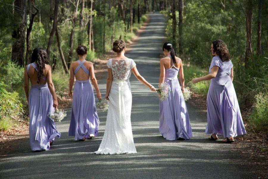 Wedding - LAVENDER Bridesmaid Dress, Long Convertible, Wedding Dress, Infinity Bridal, Maxi Wrap Dress, Evening Dress, Maternity Gown, Plus Size Gown