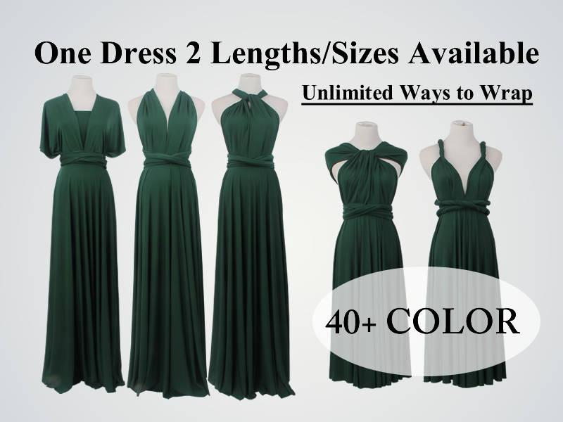 Свадьба - Forest green bridesmaid dress long infinity dress short convertible bridesmaid dress infinity dress long maxi dress wedding dress dress long