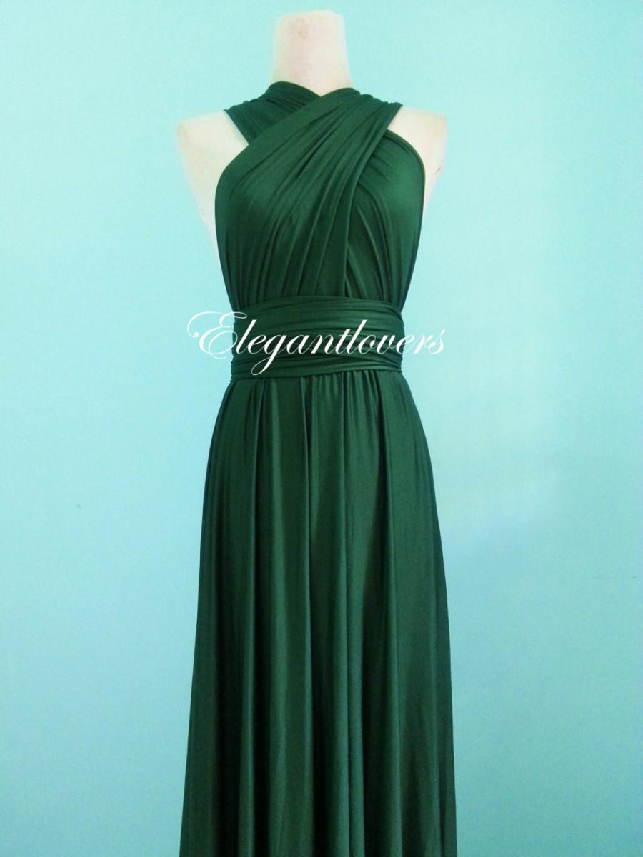 Свадьба - Dark Olive Wedding Dress Bridesmaids Dress Infinity Wrap Convertible Dress Evening Gown Cocktail Party Dress Long Maxi Elegant Prom Dresses