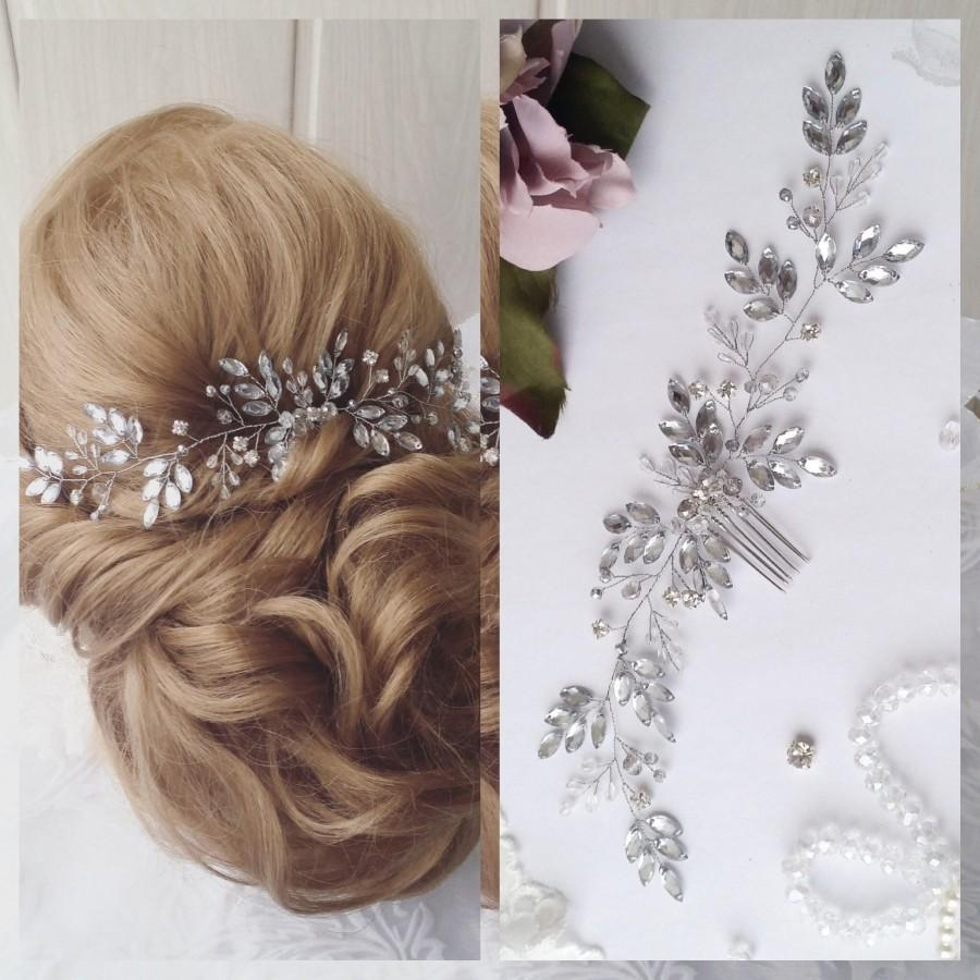 Mariage - Wedding hair comb Gold Crystal Hair Vine, Bridal Crystal Hair Vine, Wedding Hair Accessories Bridal Crystal Gold Hairpiece Wedding headpiece